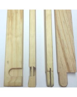 Bastidor madera lienzo 17mm. - Liston 20cm. - 10 uds.