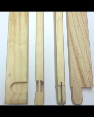 Bastidor madera lienzo 17mm. - Liston 120cm. - 10 uds.