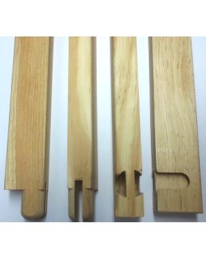 Bastidor madera lienzo 30mm. - Liston 80cm. - 10 uds.