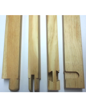 Bastidor madera lienzo 30mm. - Liston 30cm. - 10 uds.