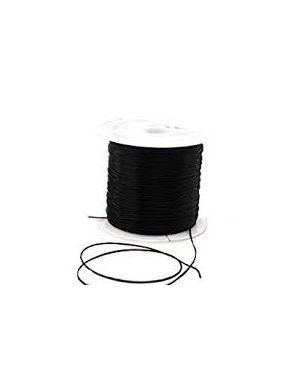 Cordón elástico Ø6 mm. Negro