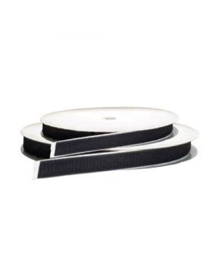 Velcro - Bucle con adhesivo acrílico 25mm negro – 4 x 25 metros