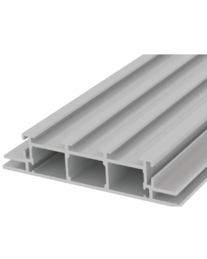 Perfil de aluminio caja de luz doble cara de 10cm x 3,1m