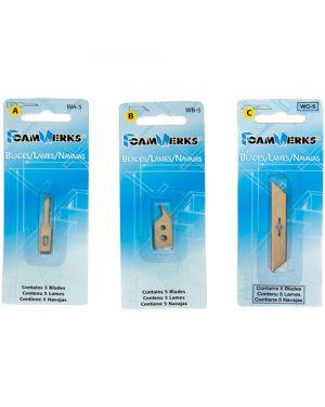 Recambio cúter cartón pluma corte libre – pack 5 uds.