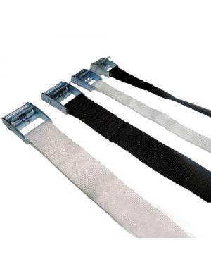 Cintas con hebilla metalica 60 x 2,5 cm. Negra – pack 100